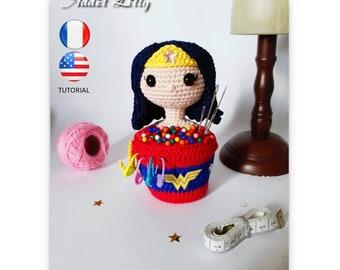 Diana WW - Tutoriel FR/US - Crochet - Amigurumi - Fan-art