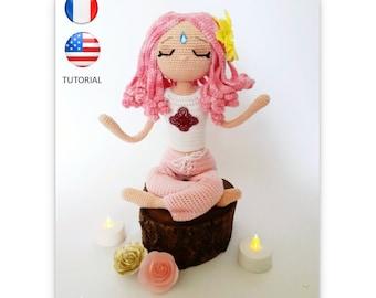 Aurélie la Yogiste - Poupée au crochet - Patron au crochet - Fichier PDF - Explications FR/US- Crochet - Amigurumi