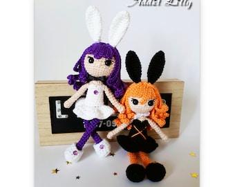 Bunny Girl - Poupée au crochet - Patron au crochet - Fichier PDF - Explications FR- Crochet - Amigurumi
