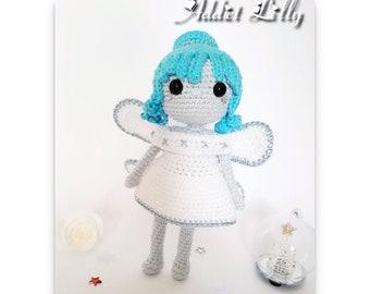 Yuki la fée bleue - Poupée au crochet - Patron au crochet - Fichier PDF - Explications EN, FR- Crochet - Amigurumi