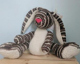 Handmade Knit Bunny Rabbit