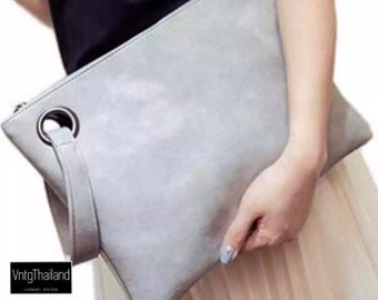 Fashion solid women's clutch bag leather women envelope bag clutch evening bag female Clutches Handbag