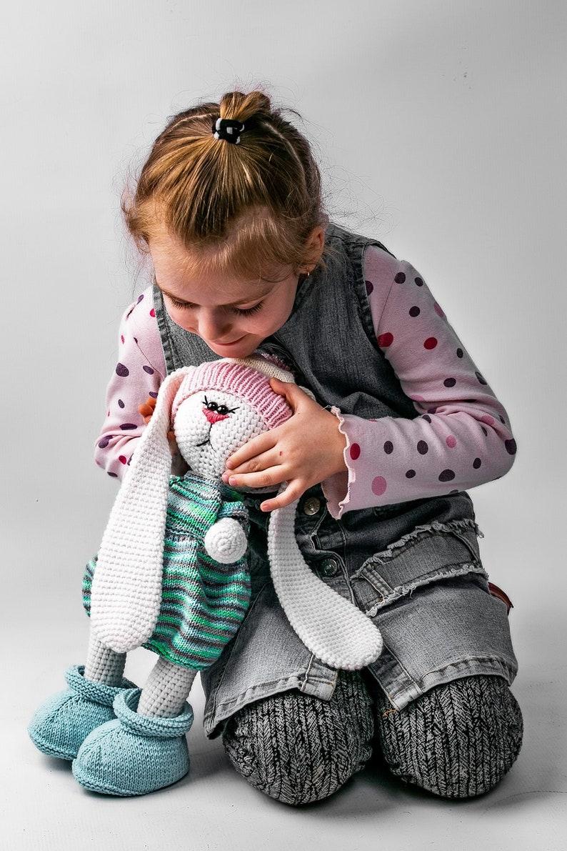 4bbb4b928 Tilda bunny Crochet bunny Christmas baby gift Interior doll