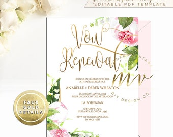 we still do anniversary invitation template vow renewal etsy