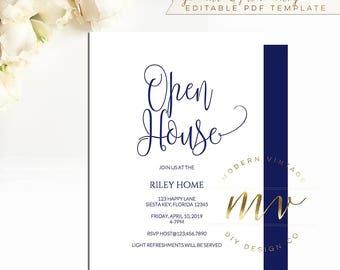 open house invites etsy