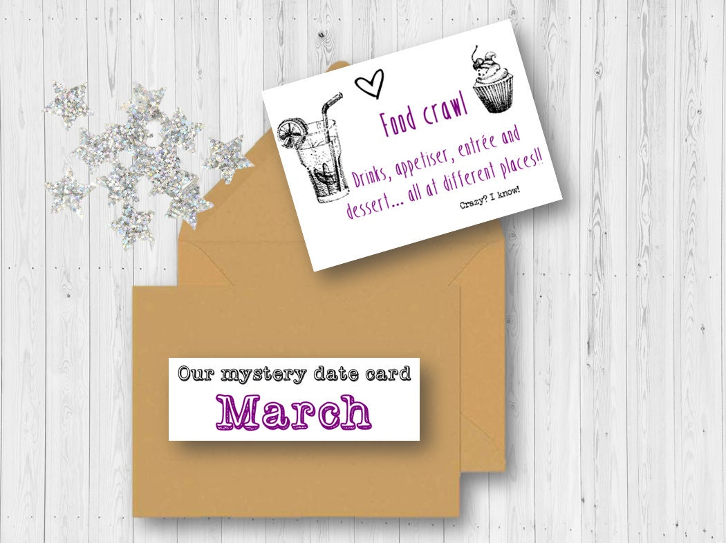Mystery Date Ideas Printouts Anniversary Birthday Love