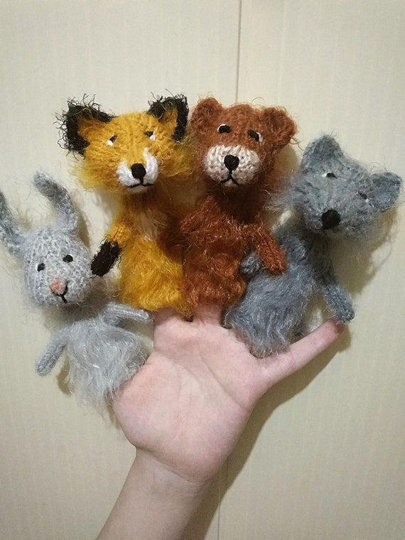 Woodland animals finger puppets Forest animals toy Montessori toys Toddler puppets baby Puppets Theatre Finger Child friendly Animals