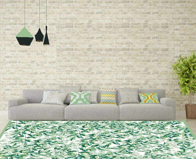 Vinyl mat. botanische mat. groene bladeren mat.vinyl mat etsy
