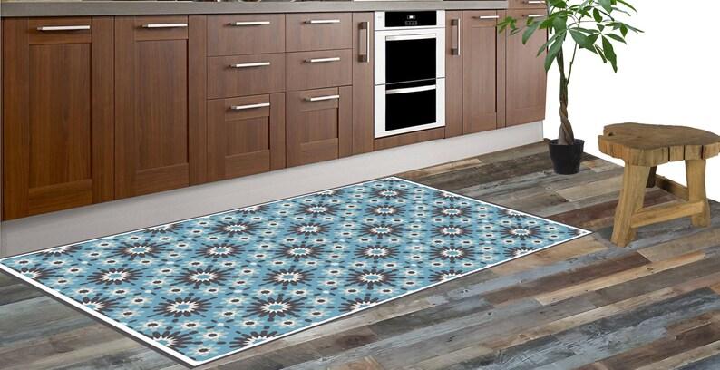 Gekleurd Vinyl Vloer : Vinyl mat loper vinyl vloer pvc tapijt marokkaanse patroon etsy