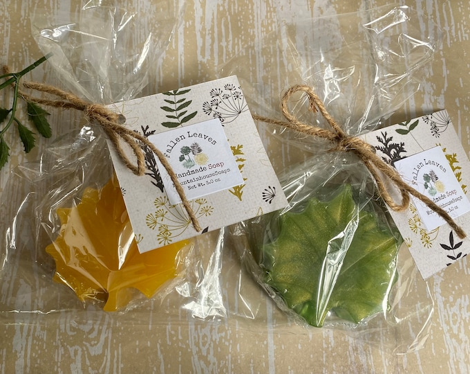 Featured listing image: Fall Soap, Leaf Soap, Fall Soap Favor, Thanksgiving Gift, Fall Wedding Favor, Boho Decor, Thank You Soap Gift