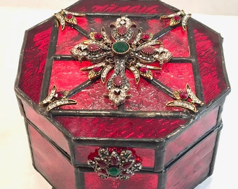 Royalty - Stained Glass Jewelry Box