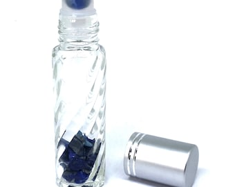 Crystal Roller Bottles, Gemstone Roller Bottles, Essential Oil Roller Bottle