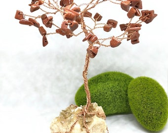 Handmade Goldstone Gem Tree, Lucky Tree, Money Tree,