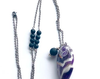 Amethyst Aroma/Diffuser Necklace.