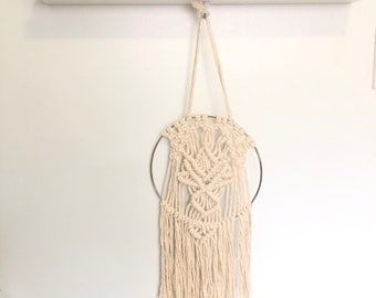 Handmade Macrame Lotus Wall Hanging, Dreamcatcher, Home Decor, Office Decor, Chakra, Lotus Flower