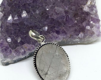 Rutilated Quartz Crystal Pendant