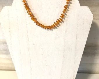 "15.5"" Beautiful Baby Teething Baltic Amber Necklace, Amber Jewelry, Polish Baltic Amber, Baby Accessories"
