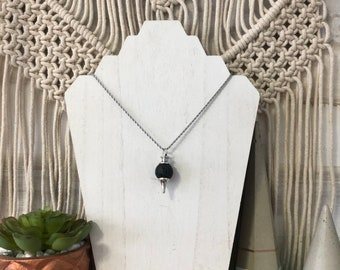 Lava Aroma Necklace, Diffuser Necklace, Essential Oil Necklace