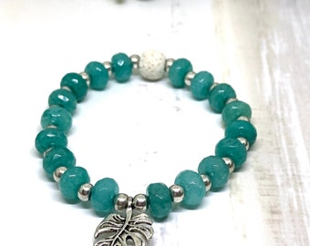 Handmade Amazonite Aroma Diffuser Bracelet.