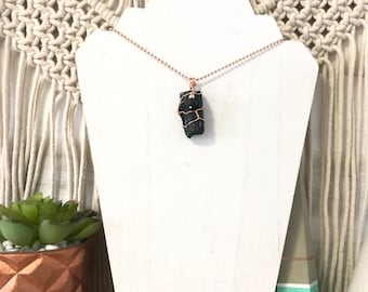 Tourmaline Aroma Necklace, Diffuser Necklace, Essential Oil Necklace, Lava Necklace