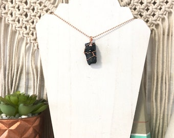 Tourmaline Aroma Necklace, Diffuser Necklace, Essential Oil Necklace, Lava Necklace