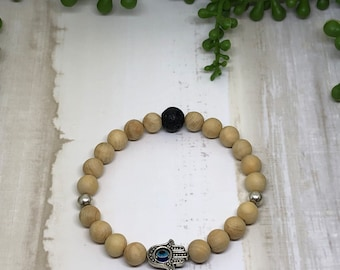 Handmade Rosewood Aroma Diffuser Bracelet.