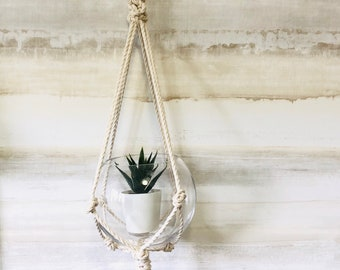 Handmade Macrame Plant Hanger, Home Decor, Flower Pot Holder