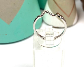 "Beautiful ""Heartbeat"" Fine Silver Ring, Adjustable"