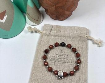 "Handmade Goldstone ""Turtle"" Aroma Bracelet"