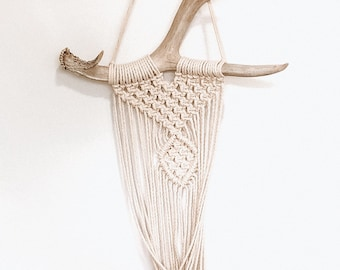 Handmade Antler Macrame Flower Pot Holders