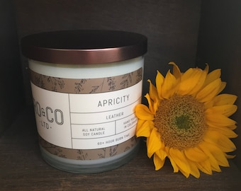 Leather Candle |Hand Poured|All Natural Soy Wax|Eco Friendly|Phthalate Free