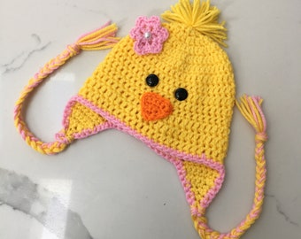 177a1a40b21 Crocheted chick hat