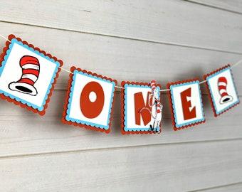 New...Inspired Dr Seuss High Chair Banner