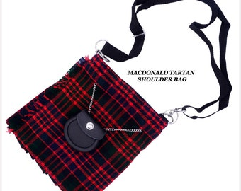 SCOTTISH TARTAN HAND BAG SHOULDER BAG PASSPORT HOLDER LADIES//GIRLS
