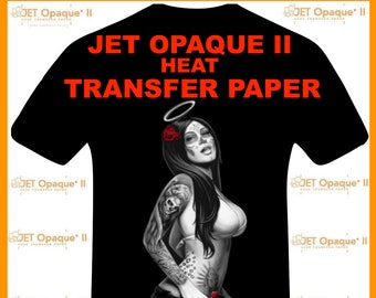 "Neenah Jet Opaque II Inkjet Heat Transfer Paper - Iron On Transfer Paper for Dark Colors 100 Sheets of 8.5 X 11"" FREE SHIPPING!"
