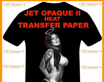 "Neenah Jet Opaque II Inkjet Heat Transfer Paper - Iron On Transfer Paper for Dark Colors of 8.5 X 11"" sheets. FREE SHIPPING!"