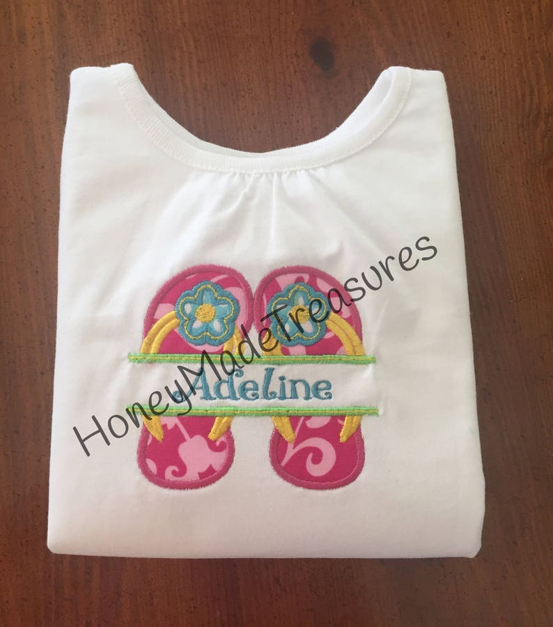 96faa3f431cc Flip Flop NameplateFree Shipping Girl s Summer