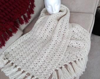 crochet scarf, wrap, shawl