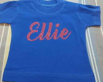 American Girl Doll Tee, 18 in. Doll Clothes, Personalized Doll Shirt, Doll Name Shirt