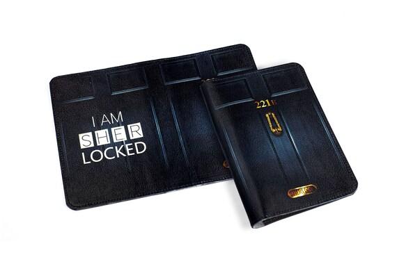 Sherlock passeport, porte-passeport Benedict Cumberbatch, I Am Sherlocked passeport de cuir véritable couverture titulaire