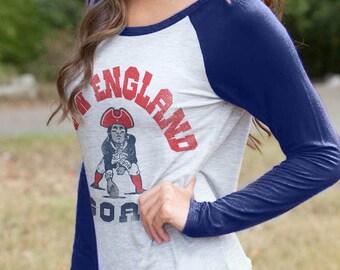 New England GOAT Tom Brady 3/4 Sleeve Raglan Shirt