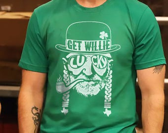 cb400699 Get Willie Lucky - Willie Nelson Inspired - St. Paddy's Day Unisex Shirt
