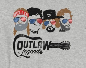 954b99cafc4 Texas Outlaw Legends - The Highwaymen Inspired (Color Print) Unisex T-Shirt