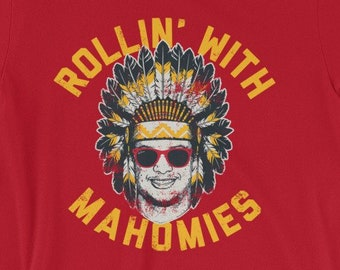 Rollin  With Mahomies - Patrick Mahomes Chiefs Inspired - Unisex T-Shirt f53b11cce