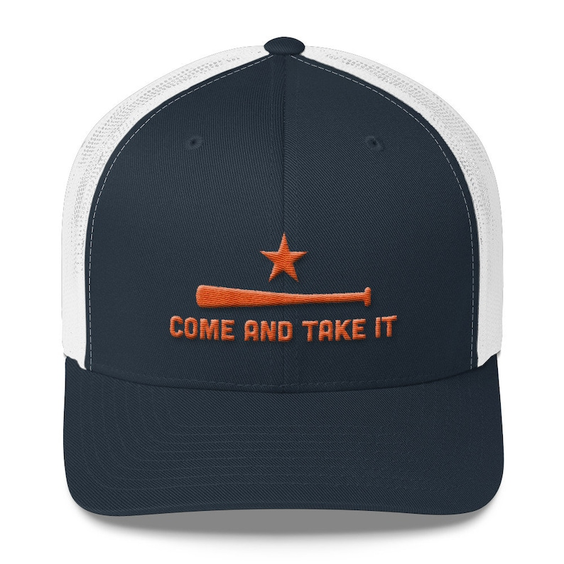 d3d7ac380b46c0 Houston Astros Inspired Come and Take It Navy Trucker Caps | Etsy