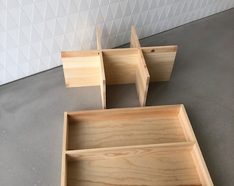 Ordering system for toy box - 2-piece wood