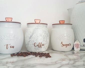 Ceramic Kitchen Canisters | Kitchen Canisters Etsy
