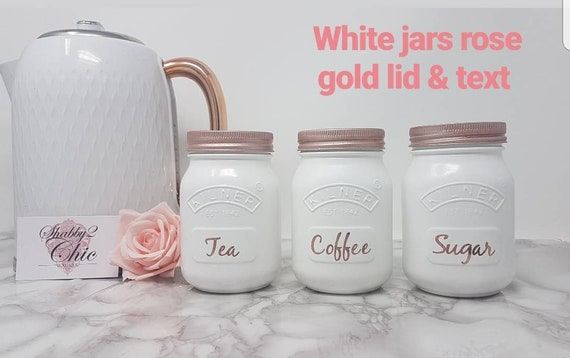 White Cream Black Gold Silver Copper Painted Teacoffee Etsy