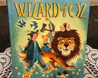 1951 Wizard of Oz Wonder Book~  Hardcover