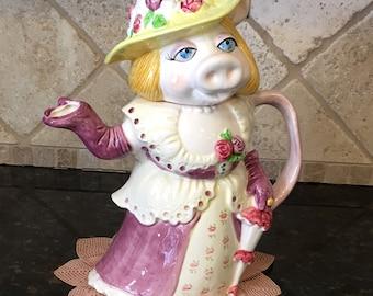 Miss Piggy TEA POT from Jim Henson Sigma Taste Setter